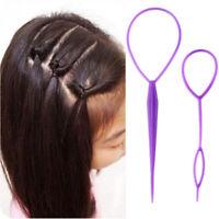 2pcs/set DIY Magic Hair Braiding Twist Curler Needle Ponytail Tool Hair Styling