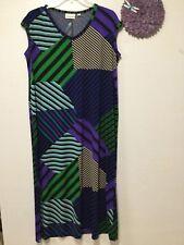 Ladies colorful dress size 18 to 20 black green blue purple Avenue 165