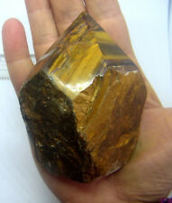 TIGERS EYE NATURAL POINT WAND CRYSTAL A-GRADE GEMSTONE  90mm SOUTH AFRICA