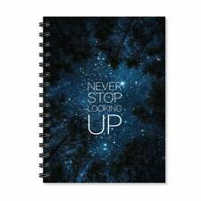 Never Stop Looking Up Motivational Notebook School Stationary A5 Journal Diary