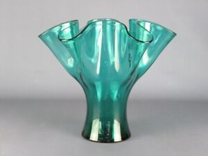 Vase Design A Collar Glass Clear Colour Green Xx Century