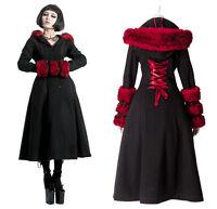 Manteau d'hiver gothique punk lolita cyber réversible fourrure corset PunkRave