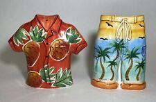 New ListingTropical Salt And Pepper Shakers Beach Theme Hawaiian Shorts & Shirt marked C.A.