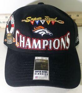 Denver Broncos NFL Super Bowl 32 XXXII Champions Snapback Hat NWT Brand Reebok