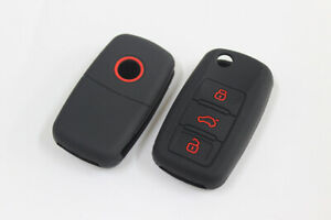 Silicone Remote Key Case For Audi A1 S1 A3 S3 A4 A6 RS6 TT Q3 Q7 Fob Shell Cover