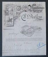 Facture CHICOREE DELTON BRADBURY HIRSCH la BASSEE belle entête illustrée 22