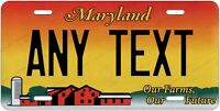 MARYLAND Farms License Plate Novelty Personalized w/ Any Text for Auto ATV Bike