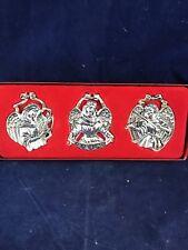 Gorham Silverplate Angel Ornaments Set of Three Peace Dove Violin