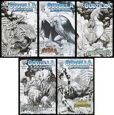 Godzilla Legends Comic Set 1-2-3-4-5 Lot Arthur Adams Black & White Cover Art
