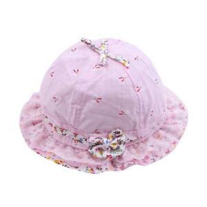 Denim Cotton Baby Bucket Hat Cartoon Toddler Kids Sun Summer Boys Girl Cap SL