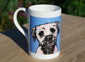 Border Terrier porcelain single mug