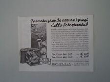 advertising Pubblicità 1936 ZEISS IKON SUPER IKONTA 6X6