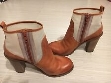 Maison Martin Marginal Ankle Brown Leather/iridescent Combo Boots 37