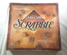 Deluxe Scrabble Turntable Crossword Game Complete Parker Brothers 1999