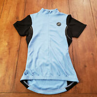 Castelli Women's S Cycling Jersey SS Black/ Light Blue Small Short Sleeve