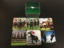The Sport Of Kings Horse Racing Coasters - Set Of 6 In Tin