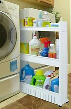 Slide Out Storage Tower Slim Between Fridge Washer Dryer Rack Organizer Cupboard