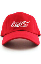 Enjoy A Real One Custom Unstructured Red Dad Hat Cap Coke Cola New