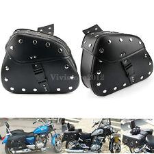 2x Motorcycle Saddle Tool Bags Fork Side Storage Pannier For Harley Honda Yamaha