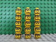 15 Nuevo Lego Mini Figura Jefes Mini higos Negro sucios Cabello Angry Artesanía Joyería