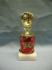 mitt topper Baseball trophy red theme column marble base