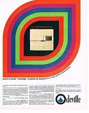 PUBLICITE  1967    DEVILLE  chauffage au mazout