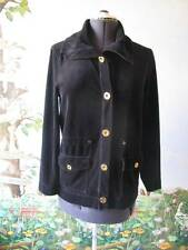 Jones New York Signature Black Velvet Cotton Polyester Button Jacket M