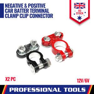 2PC Negative Positive Car Battery Terminal Clamp Clip Connector 12V 6V UNIVERSAL