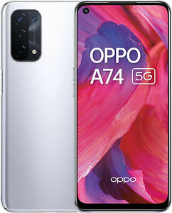 """New Oppo A74 5G Space Silver 6.5"""" 128GB 5000 mAh Android 11 Sim Free"""