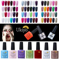Ukiyo 6 Colors Soak Off Gel Nail Polish UV LED Need No Wipe Top Base Coat Set
