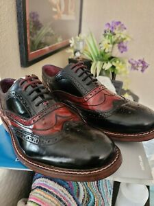 Ted Baker Krelly 2 Men's Leather Wingtip Oxford Brogues Shoe Black Red Size 9