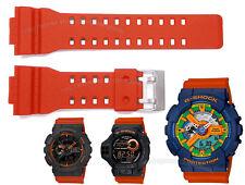 Orange Watch Band / Casio GShocks GA100 GA120 GA-110FC-2A GA110TS-1A4 GDF-100-1B