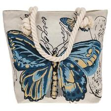 Traditional Colourful Tapestry Blue Butterfly Tote Bag 274260