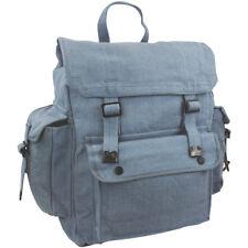 Highlander Large Pocketed Web Backpack Cotton Canvas Rucksack Army Bag Raf Blue