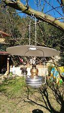 ANTIQUE DITMAR HANGING GLASS FAVORIT AUSTRIAN BRASS OIL LAMP 1890'S