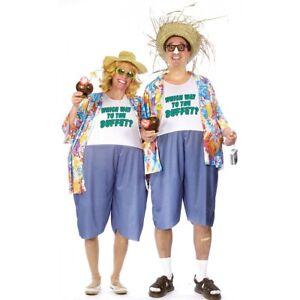 Tacky Tourist Costume Adult Hawaiian Funny Couples Halloween Fancy Dress