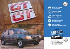 PEUGEOT 205 GT 2 Autocollants Stickers Monogramme TOUS COLORIS IDENTIQUE ORIGINE