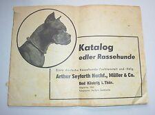 Katalog edler Rassehunde Arthur Seyfarth Bad Köstritz 1958 frühe DDR !