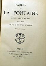 LA FONTAINE/FABLES/ED JOUAUST/VERS 1920/DEUX VOLUMES