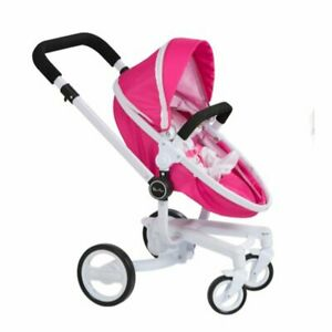 Silver Cross Surf Dolls Reversible Fabric Pram Stroller Toy Kids  Pink 3 In 1