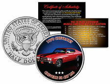 1970 CHEVROLET CHEVELLE SS 427 LS6 Auction Muscle Car JFK Half Dollar U.S. Coin