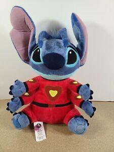 """Disney Store Lilo & Stitch Plush Red Alien Space Suit 4 Arms 16"""""""