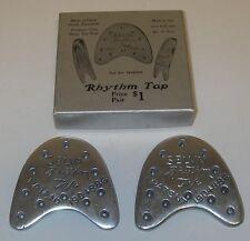 Vintage 2 Selva Rhythm Tap Dance Aluminum original box Patent 1904886