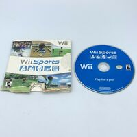 Wii Sports (Nintendo Wii, 2006) Sleeve & Game Disc - Tested