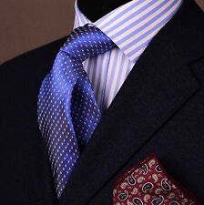 "Pink Small Watermelon Slices 3"" Blue Skinny Tie Luxury Fashion Designer Necktie"