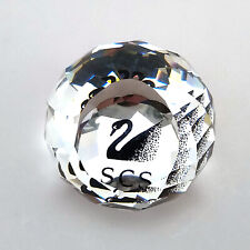 Swarovski Crystal Silver Clear Faceted Paperweight. Box/Certificate Not Included