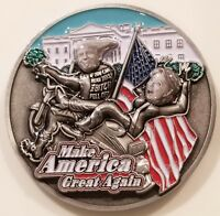 US President Donald Trump That Bitch Hillary Clinton Challenge Coin (non NYPD)