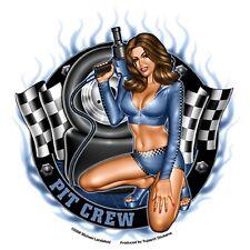 Pit Crew Girl Autocollant Décalque Sticker rockabilly old school Dead Head MC PIN UP