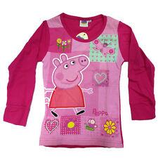 PEPPA PIG jersey fuchsia e rose manches longues coton taille 6 anni de fille