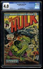 Incredible Hulk (1968) #180 CGC VG 4.0 Cream To Off White 1st Cameo Wolverine!